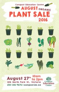 AugustPlantSale Poster 2016